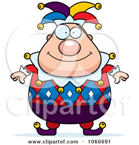 Clipart Pudgy Jester - Royalty Free Vector Illustration by Cory Thoman