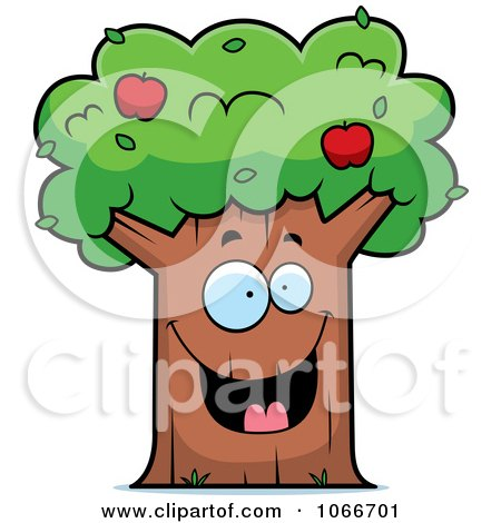 Clipart Happy Apple Tree - Royalty Free Vector Illustration by Cory Thoman