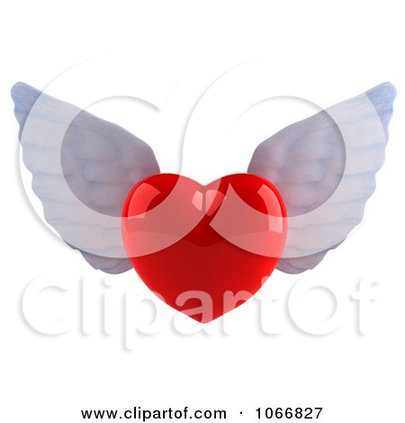 Clipart 3d Winged Heart 1 - Royalty Free CGI Illustration by Julos