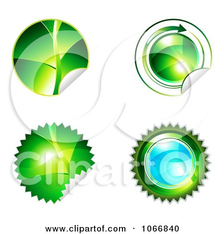 Clipart Ecology Sticker Icons - Royalty Free Vector Illustration  by MilsiArt