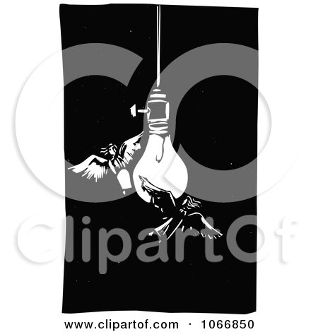 Clipart Angels By A Light Bulb - Royalty Free Vector Illustration by xunantunich
