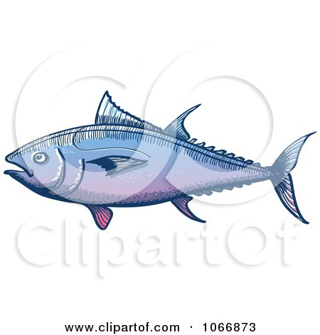 Clipart Tuna Fish - Royalty Free Vector Illustration by Zooco