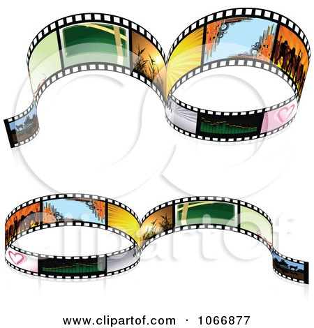 Clipart Two Film Strip Borders - Royalty Free Vector Illustration by dero