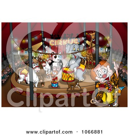 Clipart Circus Ring With Animals - Royalty Free Illustration by dero