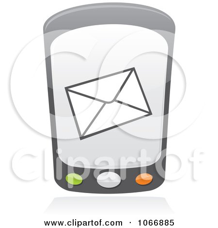Clipart Cell Phone With A Message - Royalty Free Vector Illustration by Any Vector