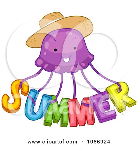 Clipart Summer Jellyfish - Royalty Free Vector Illustration by BNP Design Studio