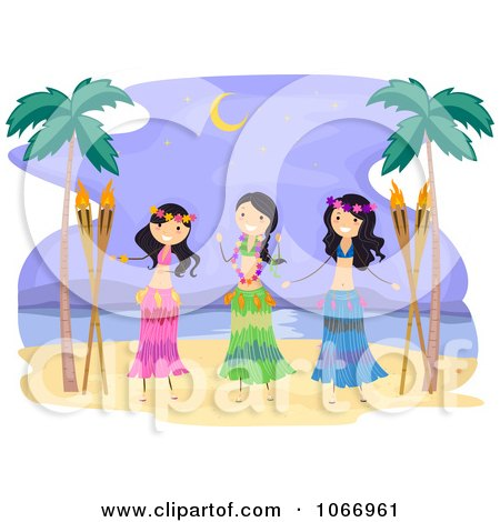 Royalty-Free (RF) Clipart of Hula Dancers, Illustrations, Vector ...