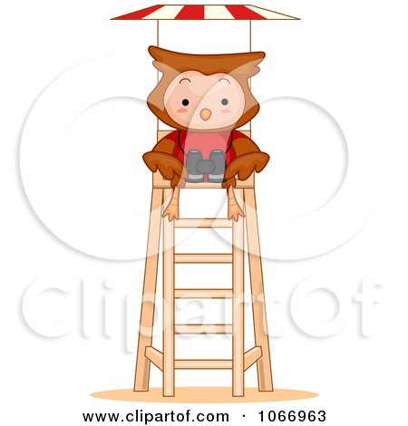 Clipart of a Blond White Female Lifeguard Running - Royalty Free ...