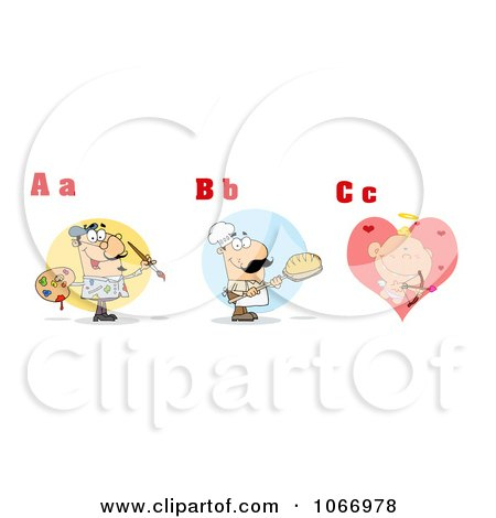 Clipart Alphabet Letters And Pictures ABC - Royalty Free Vector Illustration by Hit Toon