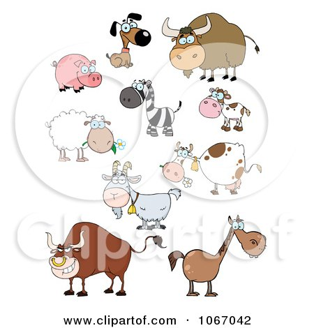 Clipart Barnyard Animals - Royalty Free Vector Illustration by Hit Toon