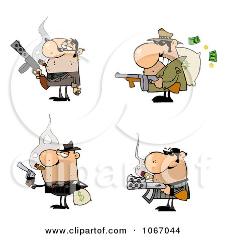 Clipart Gangsters - Royalty Free Vector Illustration by Hit Toon