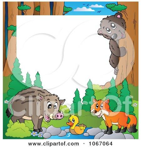 Clipart Forest Animal Frame 2 - Royalty Free Vector Illustration by visekart