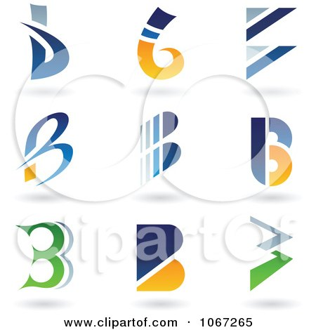 Clipart Letter B Logos - Royalty Free Vector Illustration by cidepix