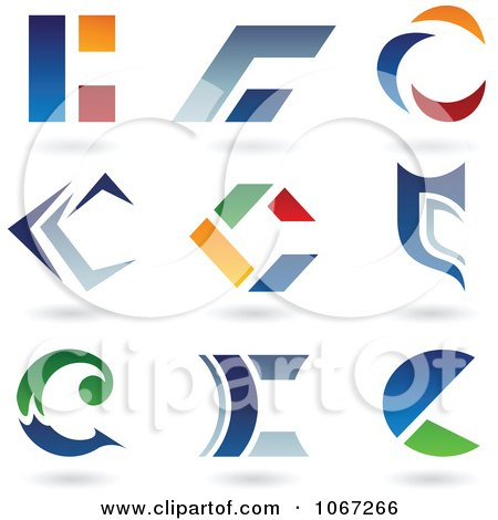 Clipart Letter C Logos - Royalty Free Vector Illustration by cidepix