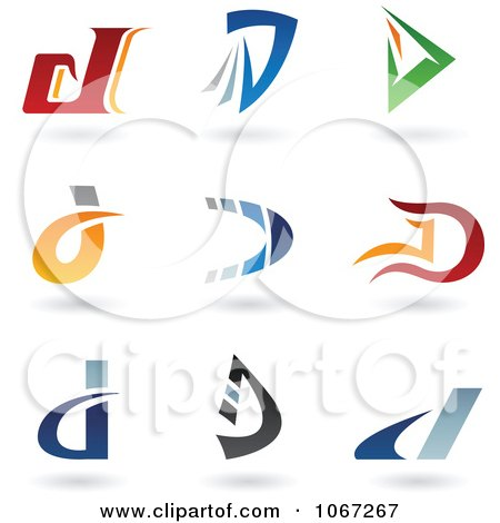 Clipart Letter D Logos - Royalty Free Vector Illustration by cidepix