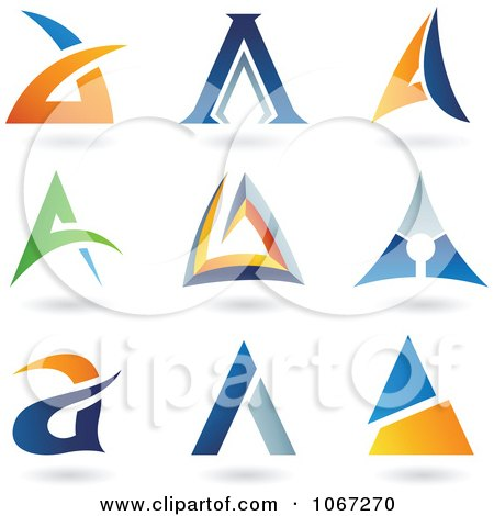 Clipart Letter A Logos - Royalty Free Vector Illustration by cidepix