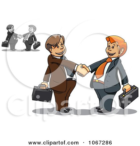 Business Men Shaking Hands 2 Posters, Art Prints