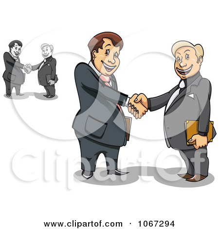 Business Men Shaking Hands 1 Posters, Art Prints