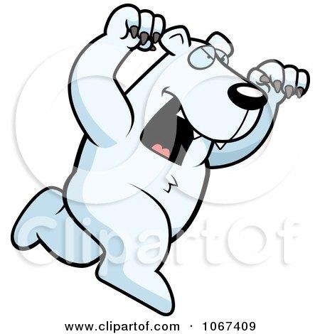 Clipart Ferocious Polar Bear Attacking - Royalty Free Vector Illustration by Cory Thoman