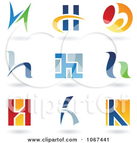 Clipart Letter H Logo Icons - Royalty Free Vector Illustration by cidepix