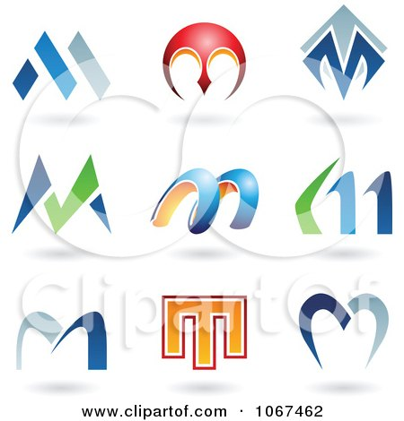 letter m logo vector free clipart letter m logo icons royalty free vector 513