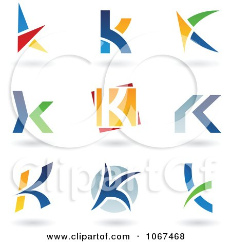 Clipart Letter K Logo Icons - Royalty Free Vector Illustration by cidepix