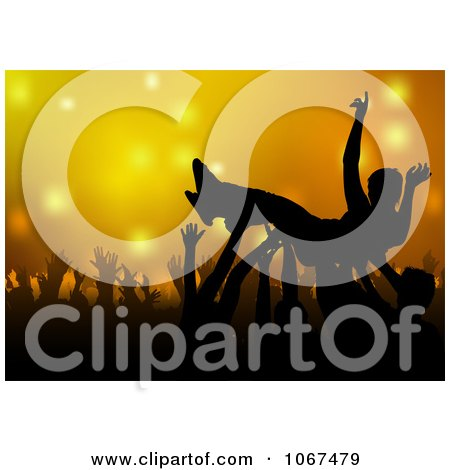 Clipart Man In A Mosh Pit - Royalty Free Vector Illustration by dero