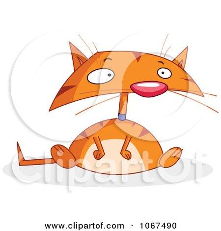 Clipart Fat Orange Cat - Royalty Free Vector Illustration by yayayoyo