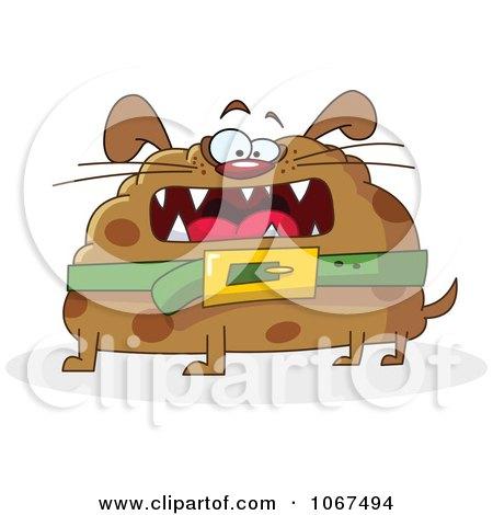 Clipart Round Fat Dog - Royalty Free Vector Illustration by yayayoyo