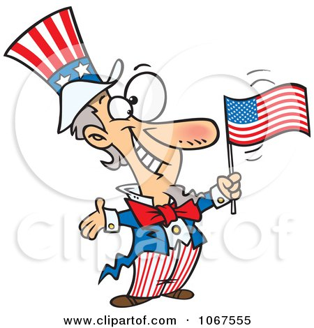 Clipart Patriotic Uncle Sam - Royalty Free Vector Illustration by toonaday