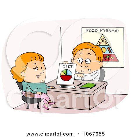 Clipart  Dietician Discussing A Womans Diet - Royalty Free Vector Illustration by BNP Design Studio