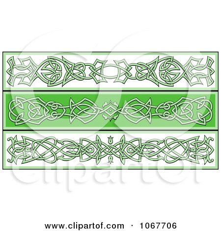 Clipart Irish Celtic Borders 1 - Royalty Free Vector Illustration by Vector Tradition SM