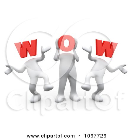 Clipart 3d WOW People Dancing - Royalty Free CGI Illustration by 3poD