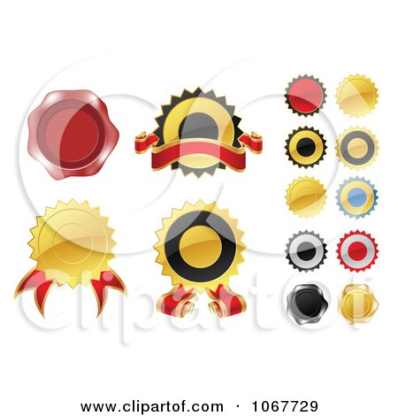 Clipart Label Stickers - Royalty Free Vector Illustration by vectorace