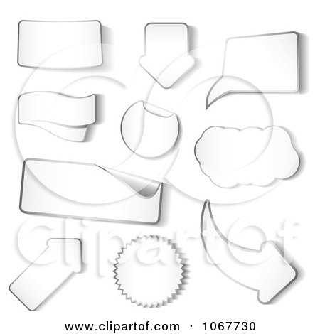Clipart White Sticker Design Elements - Royalty Free Vector Illustration by vectorace