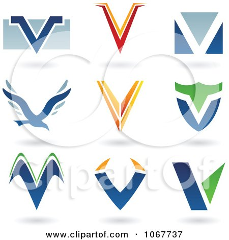 Clipart Letter V Logo Icons - Royalty Free Vector Illustration by cidepix