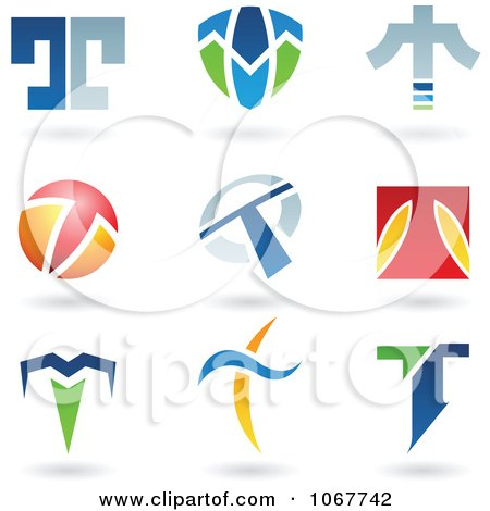 Clipart Letter T Logo Icons - Royalty Free Vector Illustration by cidepix