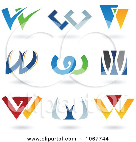 Clipart Letter W Logo Icons - Royalty Free Vector Illustration by cidepix