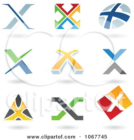 Clipart Letter X Logo Icons - Royalty Free Vector Illustration by cidepix