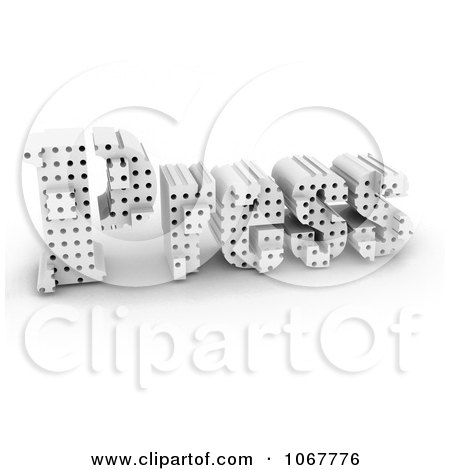 Clipart 3d PRESS With Holes - Royalty Free CGI Illustration by MacX