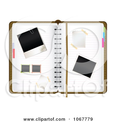 Clipart Blank Photos On An Organizer - Royalty Free Vector Illustration  by MilsiArt