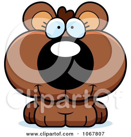Clipart Smiling Bear Cub - Royalty Free Vector Illustration by Cory Thoman