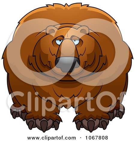 Clipart Large Bear - Royalty Free Vector Illustration by Cory Thoman