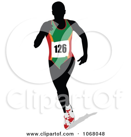 Clipart Female Runner 1 - Royalty Free Vector Illustration by leonid