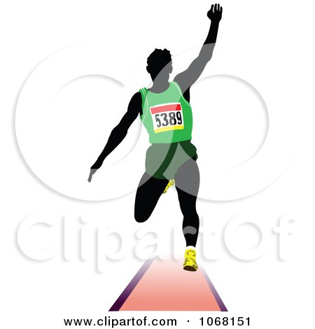 Clipart Male Runner 1 - Royalty Free Vector Illustration by leonid