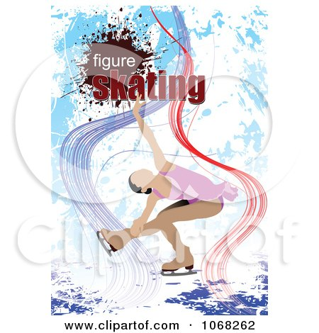Clipart Figure Skater Background 1 - Royalty Free Vector Illustration by leonid