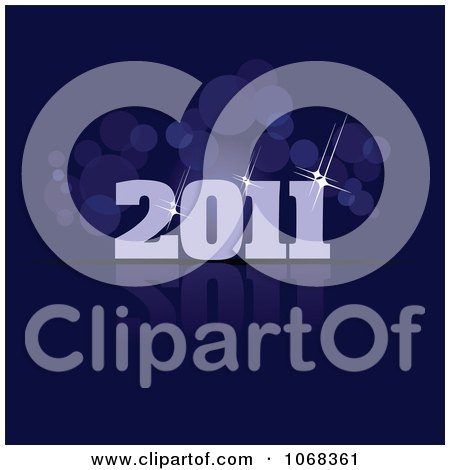 Clipart 2011 New Year Background 4 - Royalty Free Vector Illustration by leonid