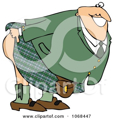 Clipart Man Mooning And Bending Over - Royalty Free Illustration by djart