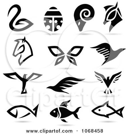 Clipart Animal Logo Icons 3 - Royalty Free Vector Illustration by cidepix