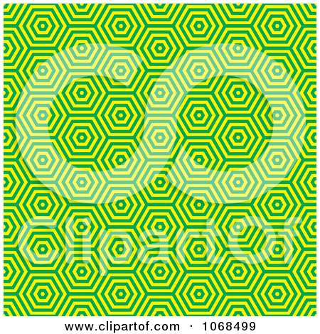 Clipart Seamless Green Retro Pattern - Royalty Free Vector Illustration by michaeltravers